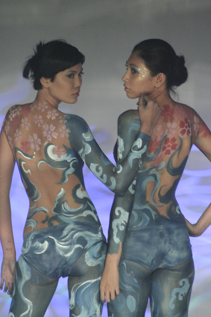 body paint contest in hongkong 2