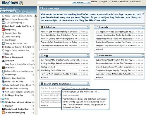 Bloglines: Customized Start Page