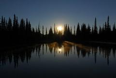 Amplified Sunrise (Chris Mayhew) Tags: park morning sun mist lake reflection fog sunrise washington nikon mount national rainier d200 aplusphoto preservetnc07