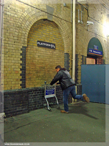 Platform 9.5 as seen in the Harry Potter films - Kings Cross Station, London by Craig Grobler