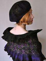 "Beret and scarf ""Venezia"" (ShellenDesign) Tags: hat felting felt"