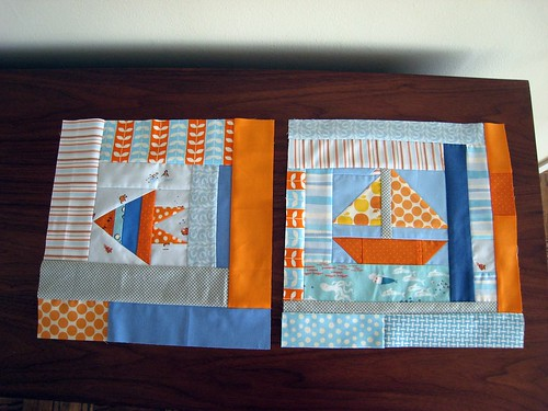 May - Seaside Log Cabin Blocks