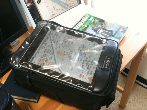 iPad in my tankbag
