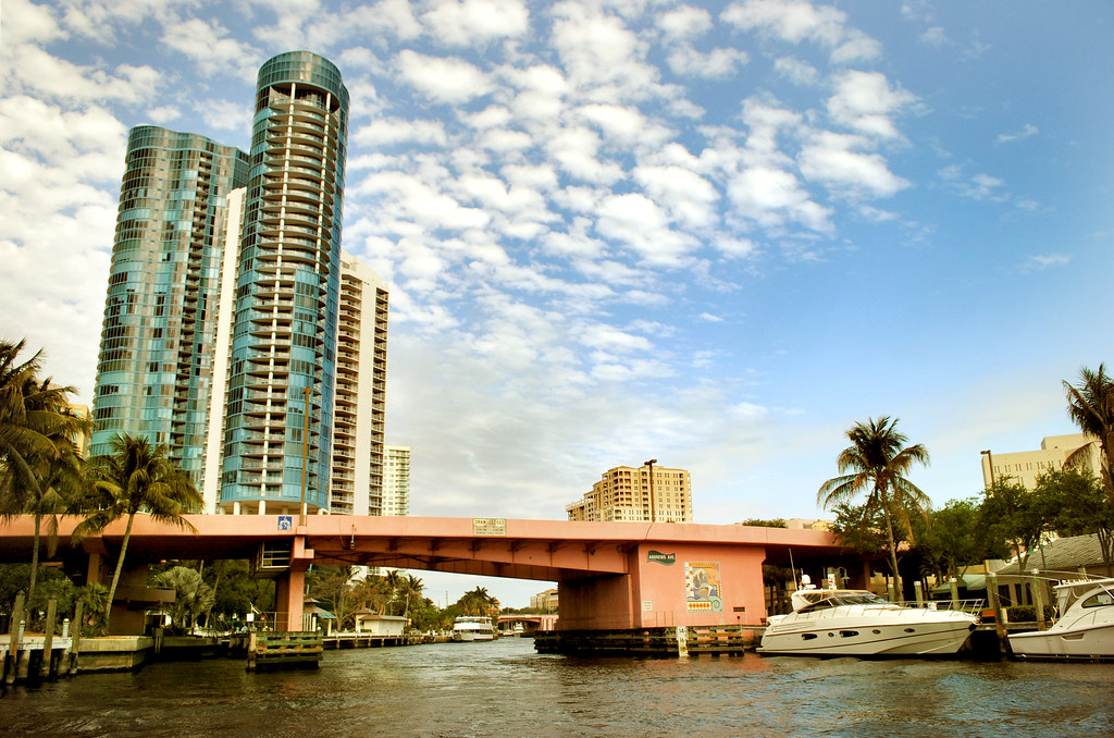 View from Fort Lauderdale Riverwalk