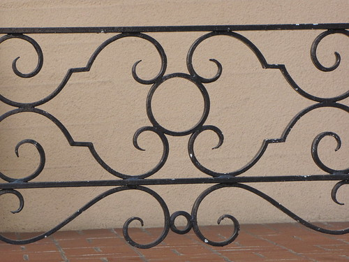 Scroll Design on Iron Gate