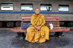 bangkok (Roberto.Trombetta) Tags: asia thailand bangkok station train hua lam transport passenger wait waiting carriage coach window portrait portraiture buddha buddhism monk bench tunic man religion meditation sit sitting seat love compassion vipassana theravada lama ghesce happy happiness hualamphong phong samsara nirvana peace peacefully spiritual dharma energy novice gate paragate parasamgate emptiness canon 5d markii happyplanet asiafavorites