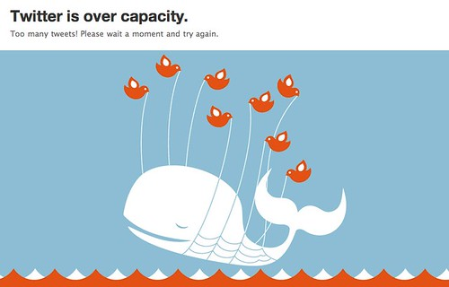 Fail Whale: Twitter Over Capacity