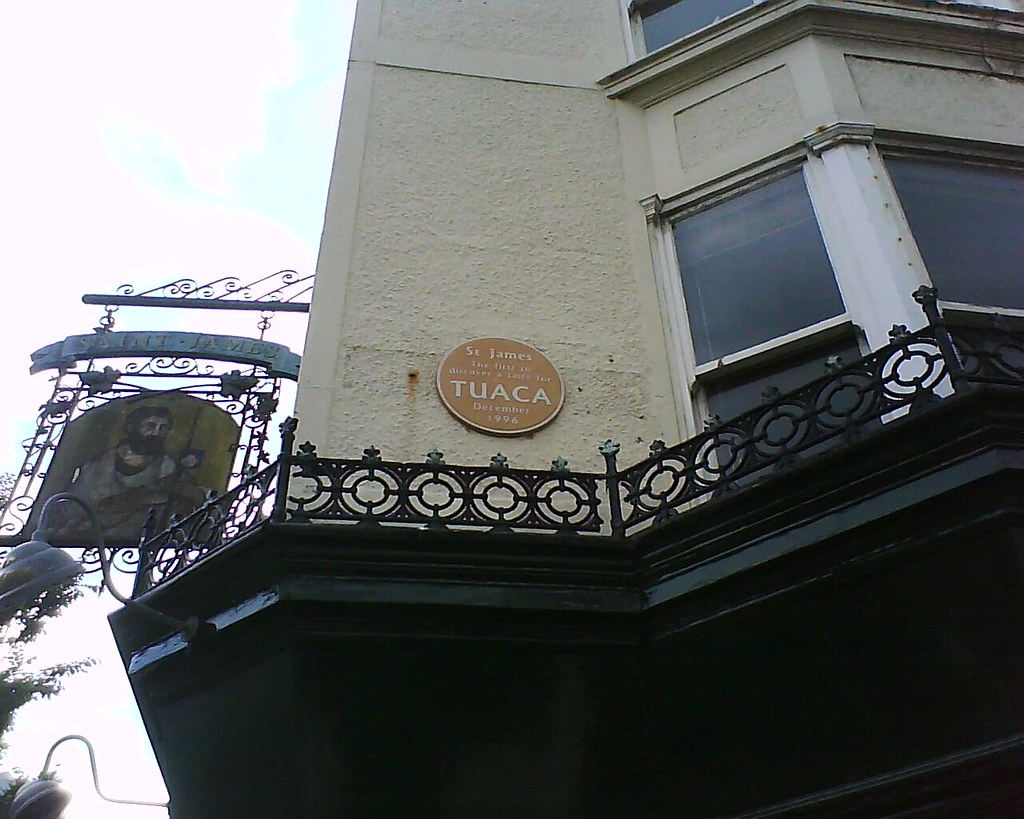 Photo of Tuaca brown plaque