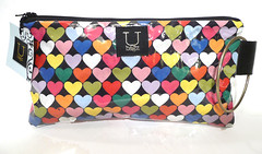 heart vinyl pouch with wrist ring