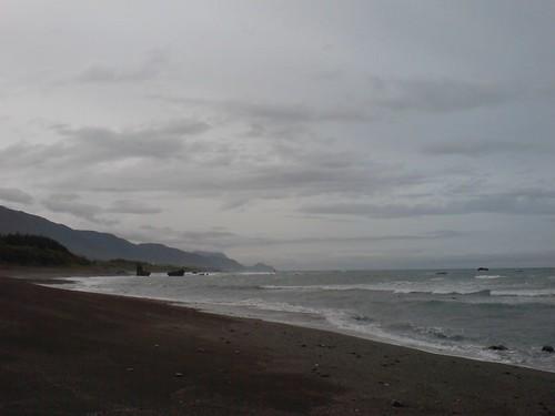 陰天的沙灘
