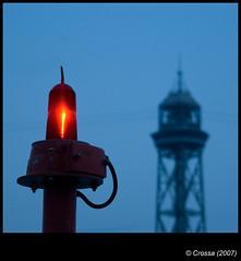 El senyal (crossa) Tags: barcelona blue light red d50 faro nikon sigma far 28300 anawesomeshot