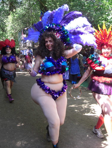 Sexy woman at Oregon Country Fair 2010 with big booty