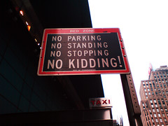 No Parking, No Standing, No Stopping