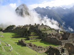 A Foggy Morning at Machu Picchu