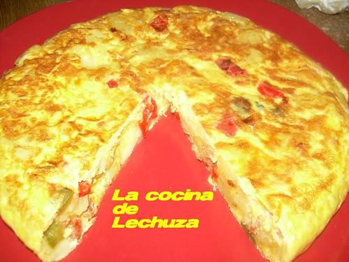 Tortilla cho-pim cortada