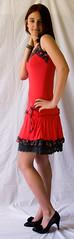 My little red dress (kyber) Tags: portrait woman girl model nikon sb600 teenager d200 speedlight reddress homestudio georgi nikond200 speedlightsb600 speedlightsb800
