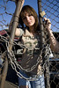 Alina (austinspace) Tags: auto sunset portrait woman graveyard car washington junk spokane dusk junkyard wreck trentavenue thisonemightbeperfect thegalleryoffineportraitphotography