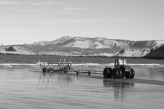 tractors to haul the boats in + out of the water