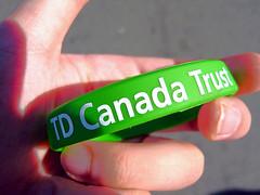TD Canada Trust Wrist Band