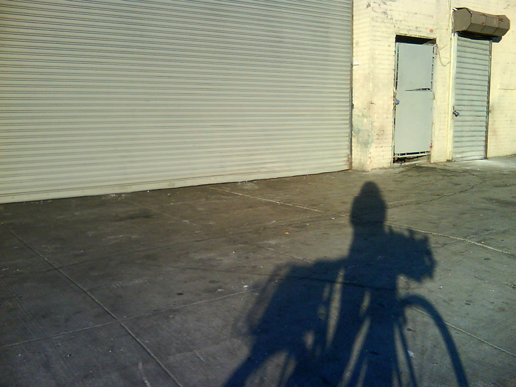 bike shadow on dean street, crown heights