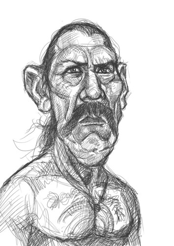 digital sketch of Danny Trejo - 2