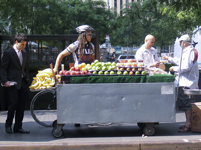 Fruit stand, NYC