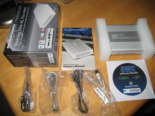 OWC Mercury Elite AL-Pro with OWC Slim ExpressCard to eSATA adapter