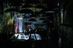 Banksy's Launch Party (explored) (Douglas E Pope) Tags: party streetart film umbrella banksy melbourne cbd madman hosierlane exitthroughthegiftshop