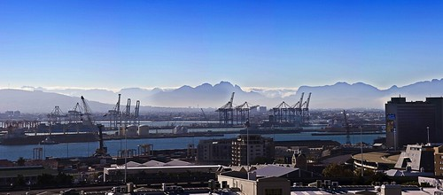 Cape Town Harbor Panorama