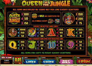 free Queen of the Jungle slot mini symbol