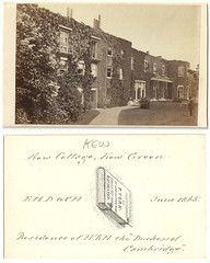 Kew Cottage, Kew Green, home of the Duchess of Cambridge, dated June 1865