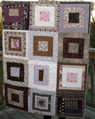 purple/brown charity quilt