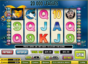 20,000 Leagues slot game online review