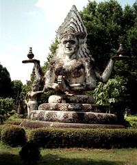Xieng Khuan Buddha park (Linda De Volder (the new layout is horrible)) Tags: travel geotagged asia southeastasia buddha culture laos vientiane xiengkhuan lindadevolder photonegativescan