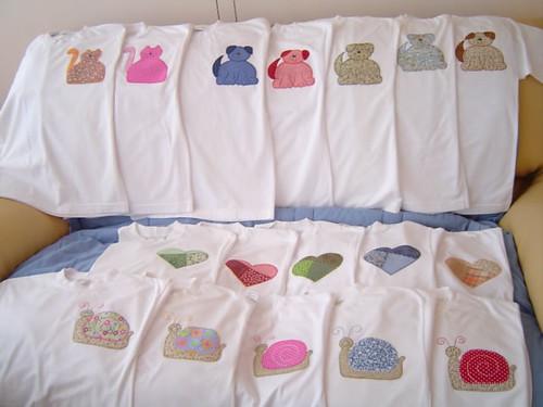 camisetas com aplicação