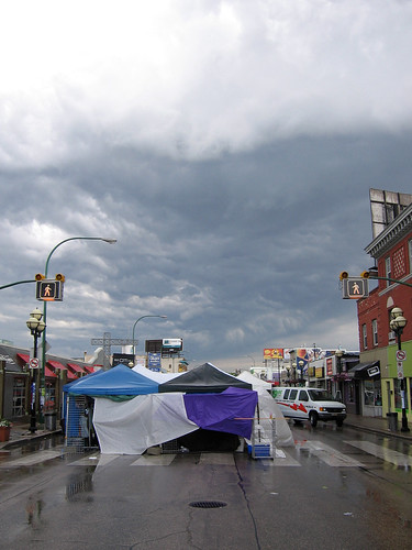 Ominous Clouds Over the Vendors