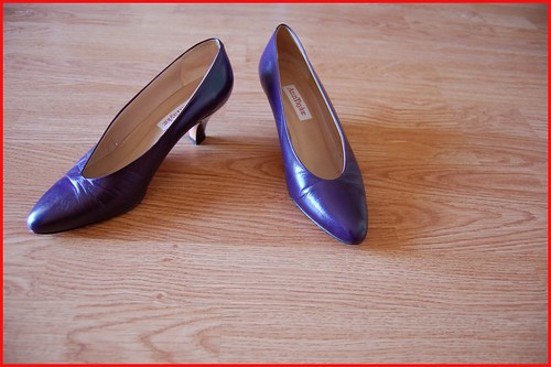 purple ann taylor pumps