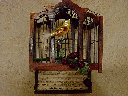 decorated birdcage