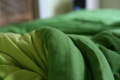 my comforter looks like a giant avocado roll