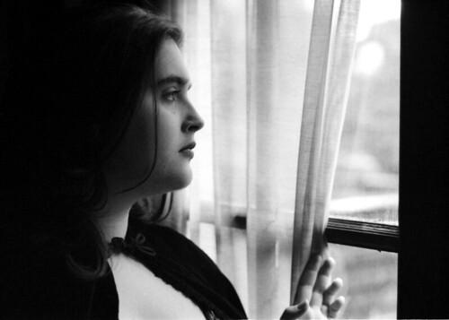 Lauren in the window
