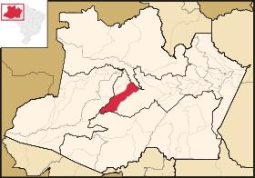 Mapa de Tefé