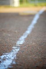The Path Before Me (DonkerDink) Tags: sunlight outside chalk dof baseball path line diamond daytime infield gravel 55200 thirdbase d40 thirdbaseline