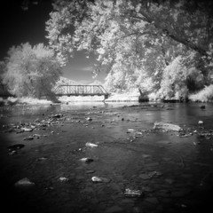 Holga Infrared (eye of wally) Tags: ir holga pennsylvania toycamera pa infrared lowfi oilcreek oilcreekstatepark efkeir820