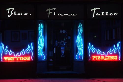 Blue Flame Tattoo Fuji S5,