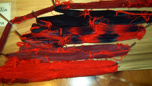Second attempt at dyeing self-patterning non-wool sock yarn