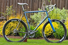 My custom DeSalvo Titanium cyclocross bike (mathowie) Tags: