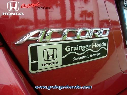 2007 Honda Accord Sedan LX SE In Savannah GA At Grainger Honda Tag