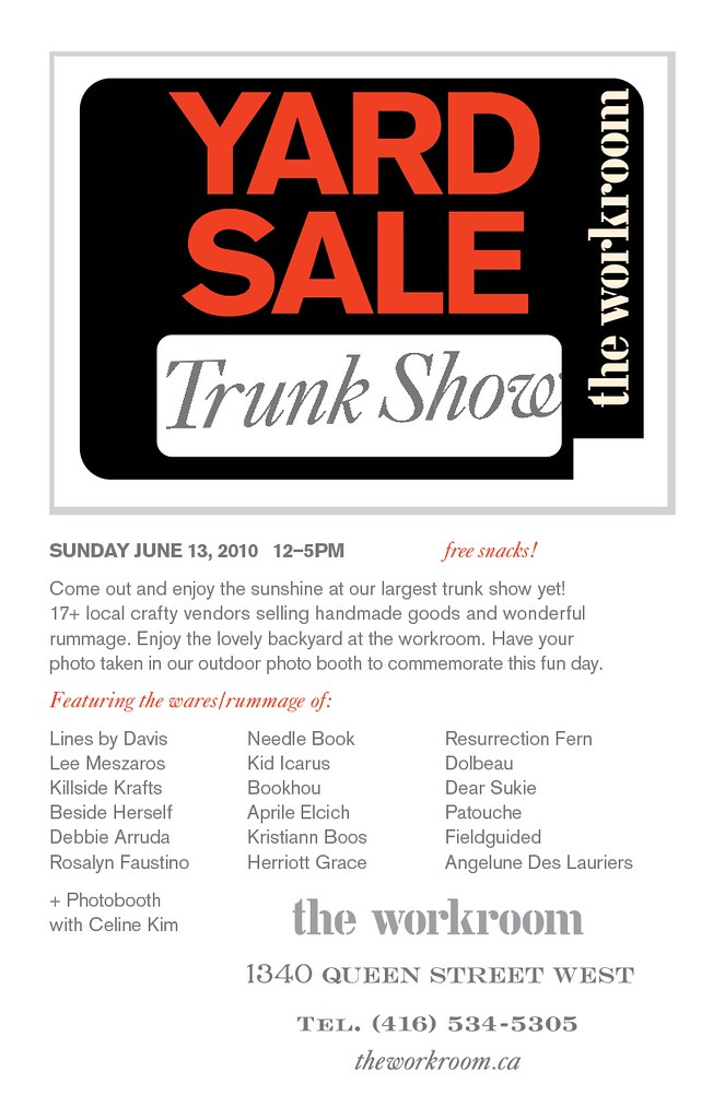 yard sale trunk show