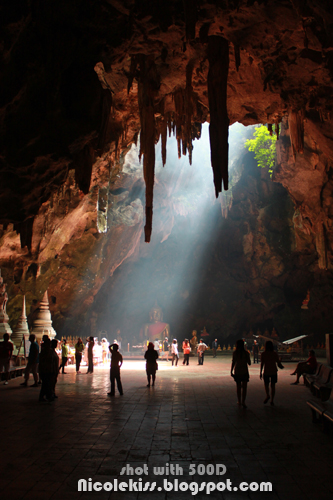 light well and natural cave temple
