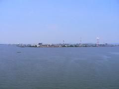児島湾大橋の上から